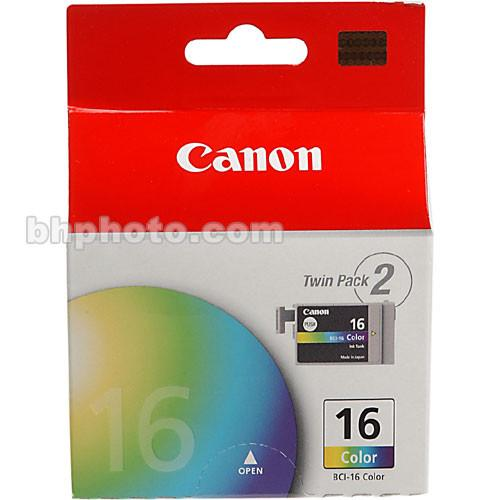 Canon BCI-16 Tri-Color Ink Tank Twin Pack 9818A003