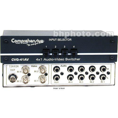 Comprehensive CVG-41AV Passive Switcher, 4x1, Audio CVG-41AV