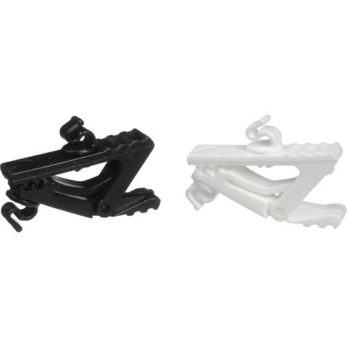 Countryman Microphone Clips (Black & White) AEMWCLIPB