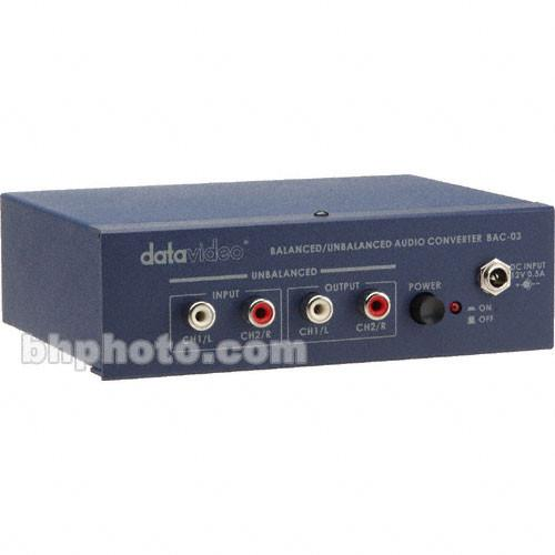 Datavideo BAC-03 Bidirectional Analog Audio Converter BAC-03