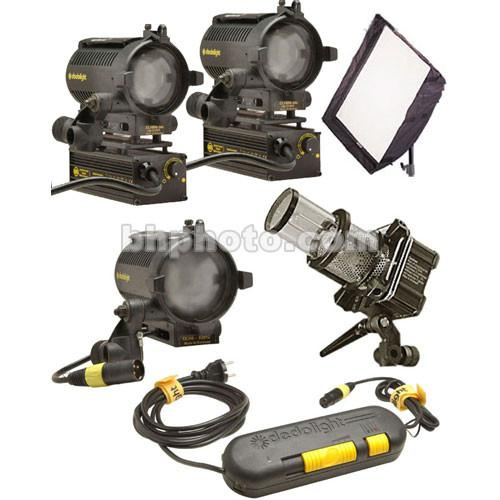 Dedolight Standard Traveler 4 Light Kit (120VAC/12VDC) S2-S-U