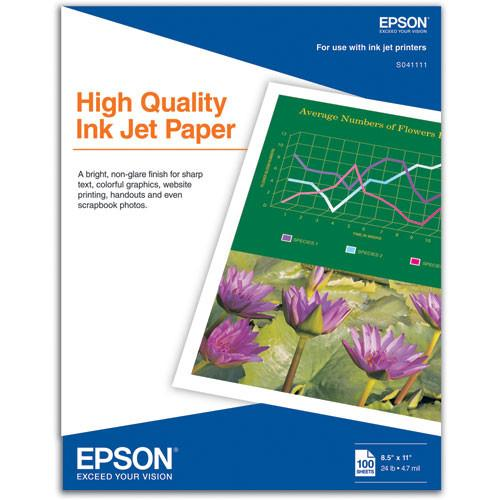 Epson High Quality Inkjet Paper - 8.5x11