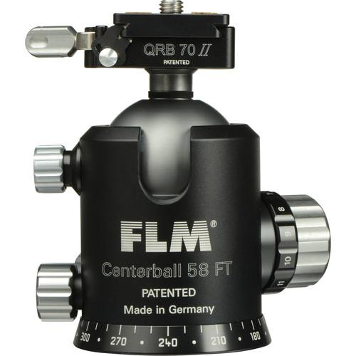 FLM CB-58 FTR Ball Head with QRP-70 Quick Release 12 58 909