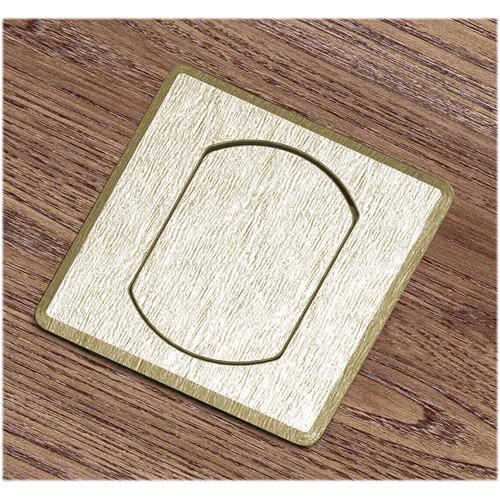 FSR T3-MINISQ-BRS Table Box (Square Brass Cover) T3-MINISQ-BRS
