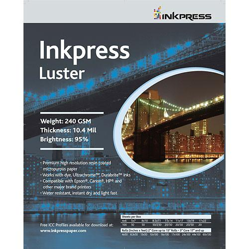 Inkpress Media Photo Chrome RC Luster Paper - 17