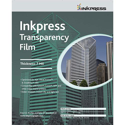 Inkpress Media Transparency Film for Inkjet Printers ITF851120