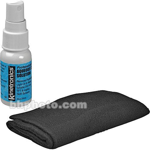 Kinetronics LCD Screen Cleaning Kit with Liquid and Cloth KSLSK
