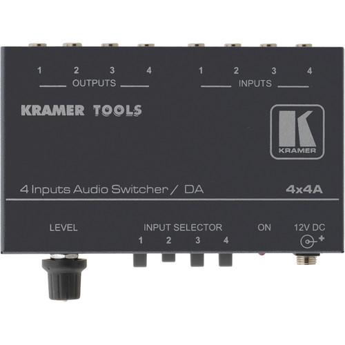 Kramer 4 x 1:4 Stereo Audio Switcher and Distributor 4X4A