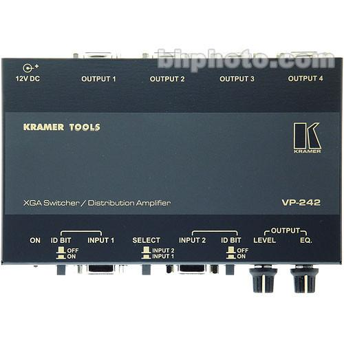 Kramer  VP-242 2x1 XGA Switcher, 1x4 DA VP-242
