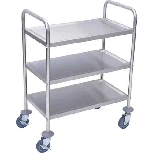 Luxor  3-Shelf Stainless Steel Cart L100S3