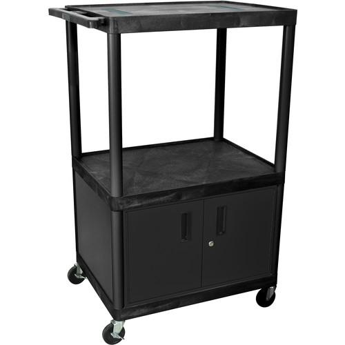 Luxor LULE54C Table with Cabinet (Black/Gray) LE54C-B