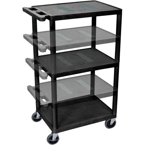 Luxor MULTI HEIGHT ENDURA AV TABLE w/ELEC (BLACK) LEDUO-B
