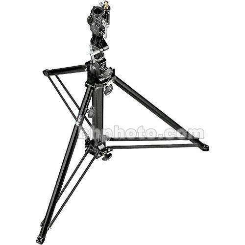 Manfrotto Follow Spot Stand with Leveling Leg (Black, 4.8')