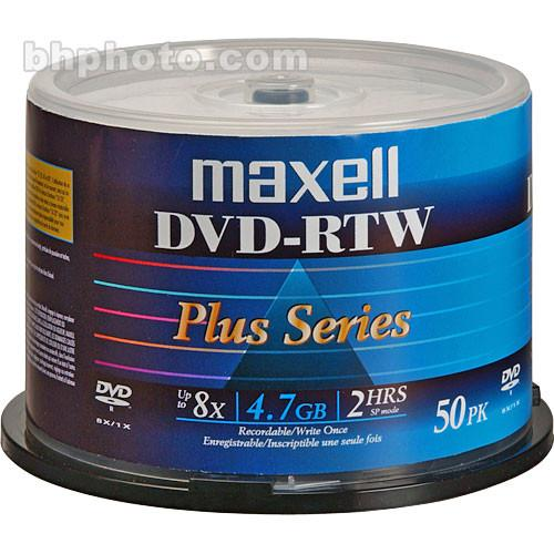 Maxell DVD-RTW 4.7GB Thermal Printable 8x Disc (50) 635063
