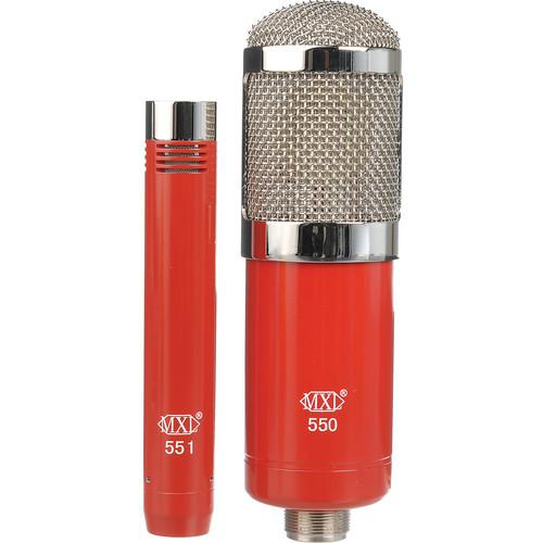 MXL 550/551 Microphone Ensemble Kit (Red) 550/551R