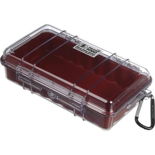 Pelican  1060 Clear Micro Case (Red) 1060-028-100