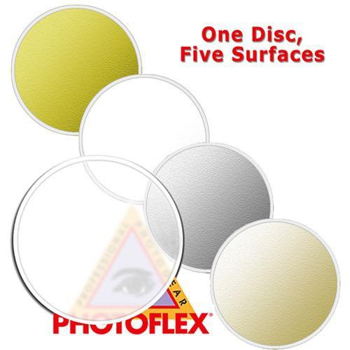 Photoflex MultiDisc Circular Reflector, 5 Surfaces, DL-22MULTI