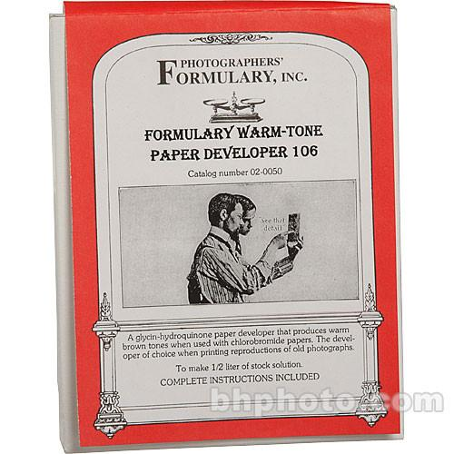 Photographers' Formulary 106 Developer for Black & 02-0050