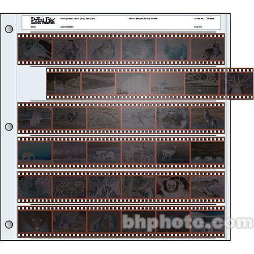 Print File Archival Storage Page for Negatives, 35mm - 010-0040