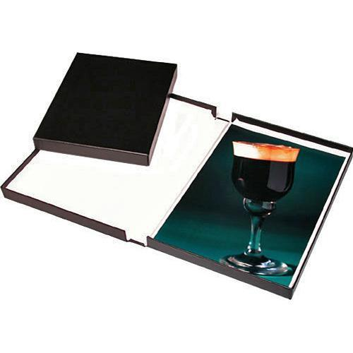 Print File Black Archival Portfolio Box with White 210-0014