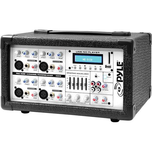 Pyle Pro PMX402M - 400 Watt 4-Channel Powered PA PMX402M
