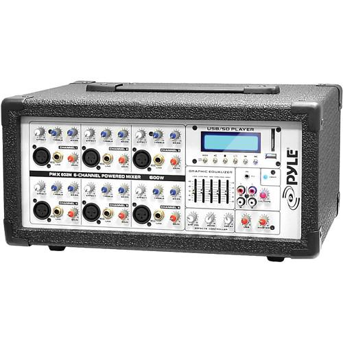 Pyle Pro PMX602M - 600 Watt 6-Channel Powered PA PMX602M