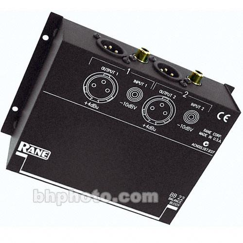 Rane BALANCE BUDDY 2 Channel Level Matching Converter BB 22