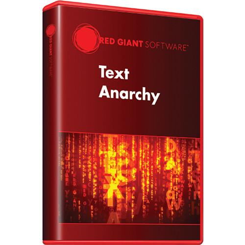 Red Giant  Text Anarchy (Download) TEXT-D