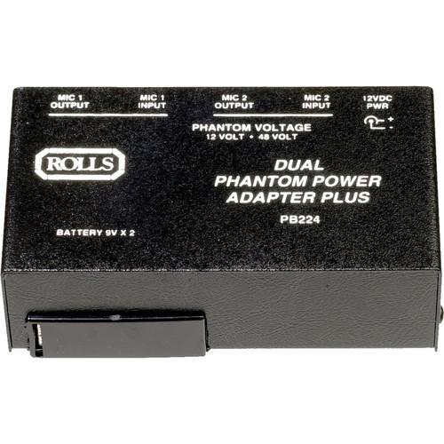 Rolls PB224 - 2 Channel Portable Phantom Power Supply PB224