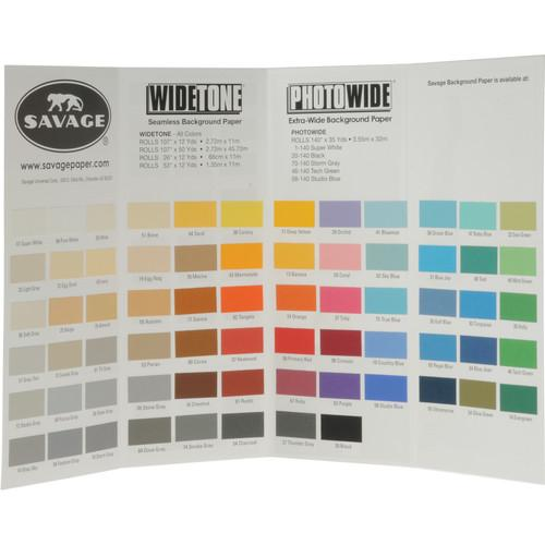 Savage Color Chart for Background Paper 99992222-68