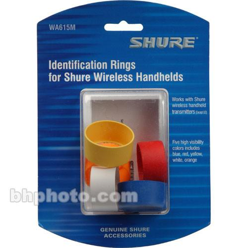 Shure Multi-Colored Handheld Transmitter ID Rings WA615M