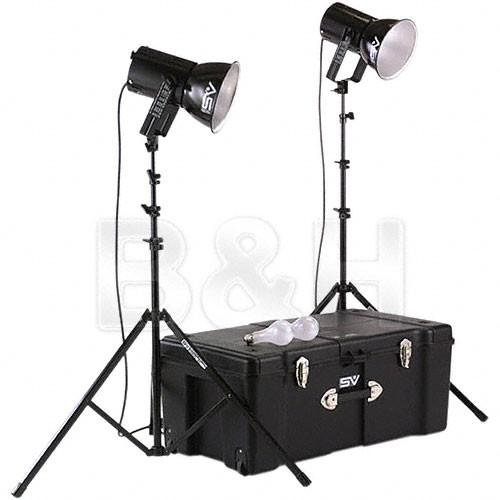 Smith-Victor K82 2-Light 500 Watt Ultra Cool Portable Kit 401460