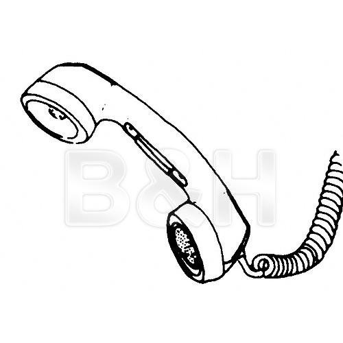 Telex HS-6A - Telephone Push-to-Talk Handset - F.01U.118.901