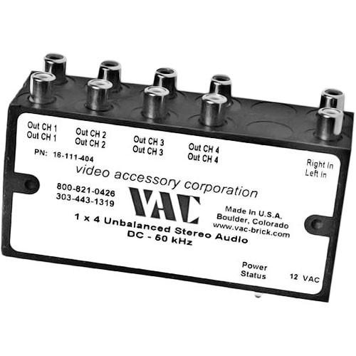 Vac 1x4 Unbalanced Mono Audio Distribution Amplifier 16-111-104