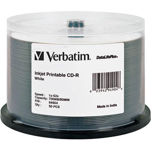 Verbatim CD-R White Inkjet Printable Disc (50) 94904