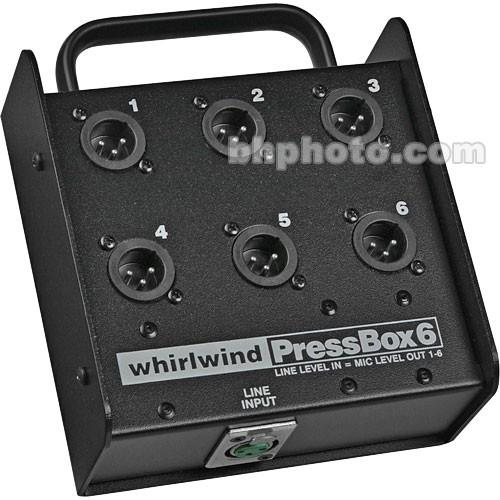 Whirlwind PB06 - 1 Line In to 6 Mic Out Passive Press Box PB06