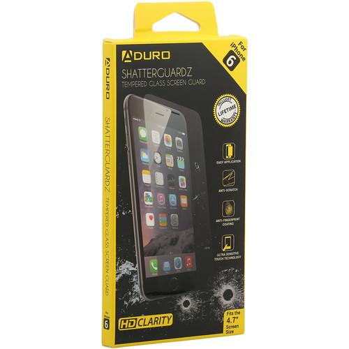 Aduro SHATTERGUARDZ Tempered Glass Screen Protector SHGIP6H4HDCL