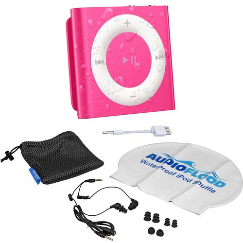 AUDIOFLOOD 2GB Waterproof iPod Bundle (Bright Pink) NPI-B005