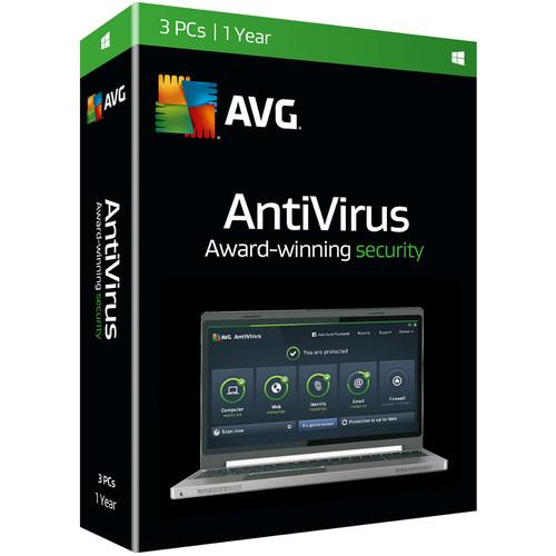 AVG AntiVirus 2016 (Download, 3 Users, 1-Year) AV16N12EN003