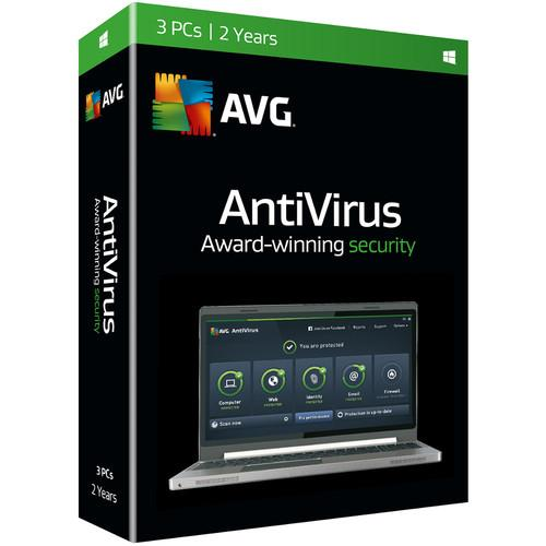 AVG AntiVirus 2016 (Download, 3 Users, 2-Year) AV16N24EN003