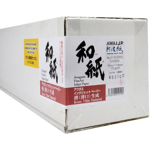 Awagami Factory Kozo Thin Fine-Art Inkjet Paper 70 gsm 213532500
