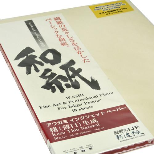 Awagami Factory Kozo Thin Natural Fine-Art Inkjet 213532300