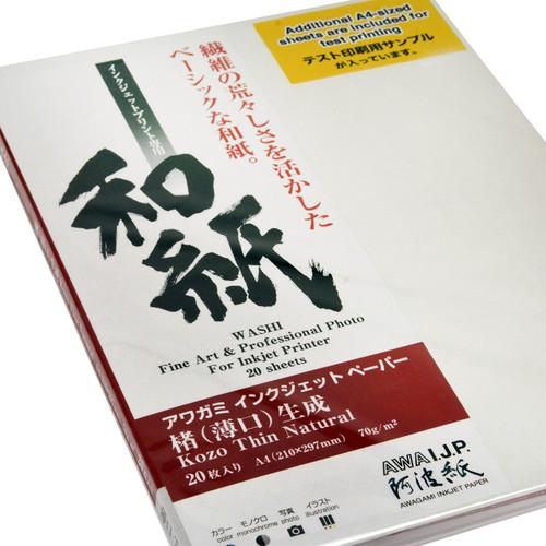 Awagami Factory Kozo Thin Natural Fine-Art Inkjet 213532400