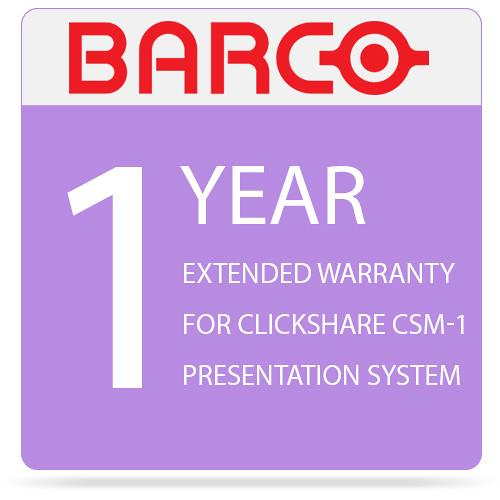 Barco 1-Year Extended Warranty for ClickShare CSM-1 R9805969