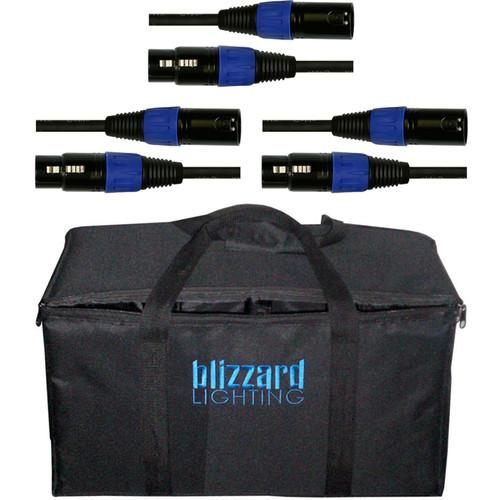 Blizzard Lighting Three 5' DMX Cables/Carry Bag Kit 3-DMX-BAG