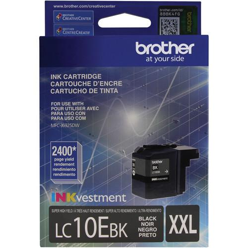 Brother LC10EBK INKvestment Super High Yield Black Ink LC10EBK