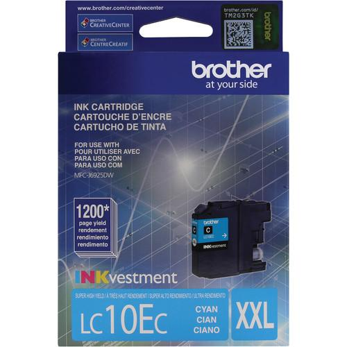 Brother LC10EC INKvestment Super High Yield Cyan Ink LC10EC