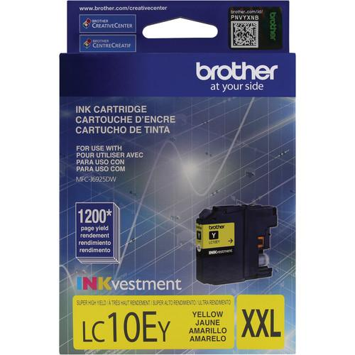 Brother LC10EY INKvestment Super High Yield Yellow Ink LC10EY