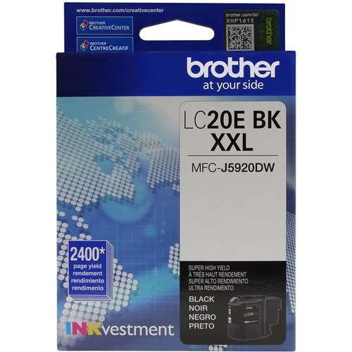 Brother LC20EBK INKvestment Super High Yield Black Ink LC20EBK