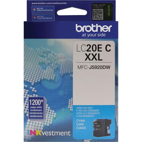 Brother LC20EC INKvestment Super High Yield Cyan Ink LC20EC